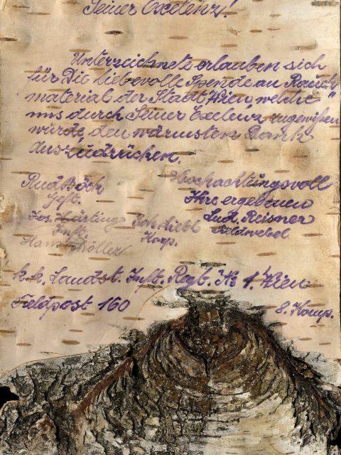 Briefe von Soldaten an der Front auf Birkenrinde.