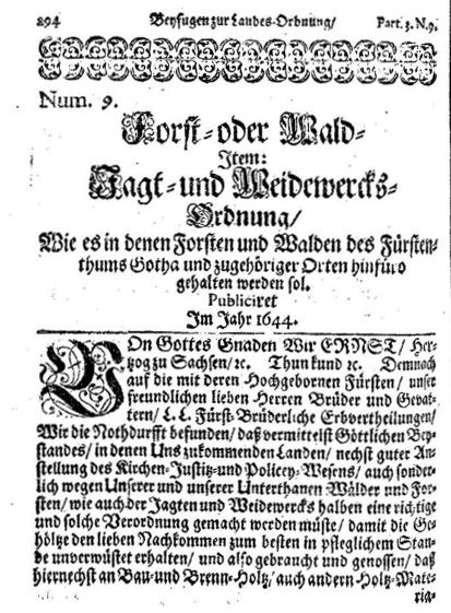 Weidewercksordnung 1644
