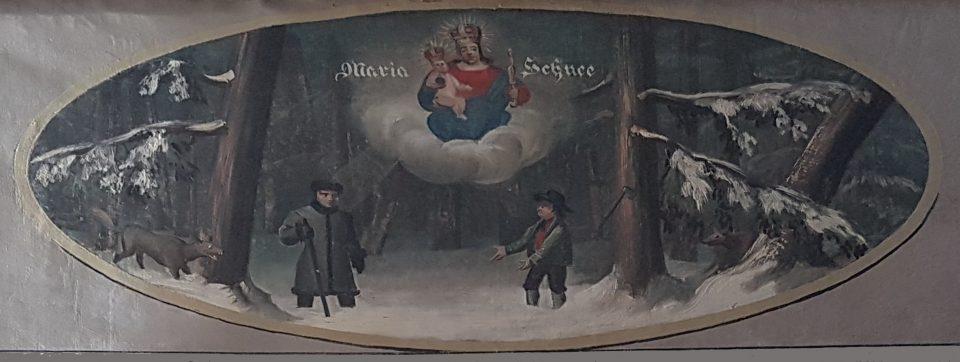 Lichtenegg Kaltenberg Maria Schnee Bild Legende